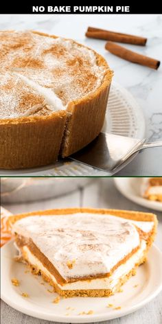 This pumpkin pie features a graham cracker crust, Cool Whip, vanilla pudding and a yummy layer of cheesecake. Top with a … Cheesecake Speculoos, No Bake Pumpkin Cheesecake, No Bake Pumpkin Pie, Easy Pumpkin Pie, Pumpkin Pie Recipes, Baked Pumpkin, Pumpkin Dessert, Pumpkin Spice, Cheesecake Crust Recipe Without Graham Crackers