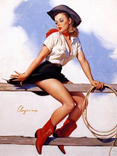 """Elvgren foi o melhor artista na história da ilustração quando o assunto é pin-ups. A sua influência como artista e professor foi extensa. Após a publicação de """"The Great American Pinup""""…"""