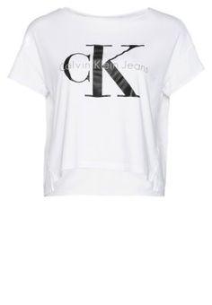 T-shirts med print - bright white