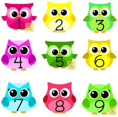 Cute Owl Numbers great for preschool bulletin boards or have kids practice putting numbers in order in math centers. Owl Preschool, Preschool Bulletin Boards, Numbers Preschool, Toddler Home Activities, Pre K Activities, Kindergarten Activities, Owl Classroom Decor, Daycare School, Owl Parties