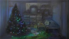 Christmas Tree, 2015, huile sur toile, 81 x 142 cm