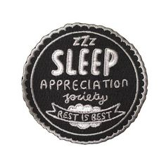 Sleep Appreciation Society Woven #patches | Veronica Dearly Illustration