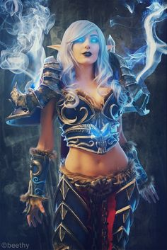 World of Warcraft - Death Knight #cosplay by Jessica Nigri. Photo by beethy.deviantart.com
