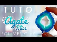 How to make Faux Agate Slice ~ Polymer Clay Tutorials Fimo Clay, Polymer Clay Projects, Polymer Clay Creations, Polymer Clay Art, Handmade Polymer Clay, Clay Beads, Polymer Clay Jewelry, Resin Art, Video Fimo