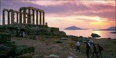 The Temple of Poseidon, Cape Sounion, Greece Acropolis, Archaeological Site, Oh The Places You'll Go, Vacation Spots, Seattle Skyline, Athens, Temple, Tours, Explore