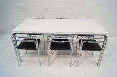 """Chaises """"Bill"""" et table """"Hudson"""", Meurop, 1972"""