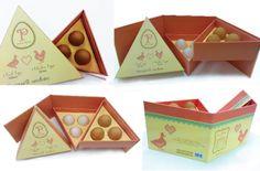 """Fugir do convencional é sempre bom, ainda mais quando se pretende atrair olhares.  Esta embalagem de Ovos demonstra o poder do """"diferente""""!"""