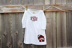 Monogrammed Mississippi State Bulldogs by OrangeJuiceBoutique, $32.00