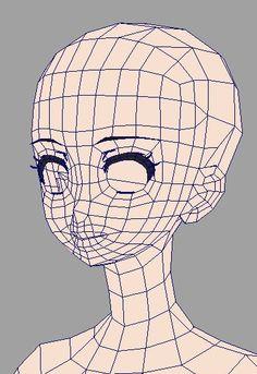 """宮本 浩史さんのツイート: """"0から素体を作成中。 まずざっくり作り、ここから必要なエッジを加えていきます。 顔はアニメーション時プロキシに置き換えようがないので、なるべく少ないポリゴン数で作成。でも、動きに必要なエッジはケチらず残す。 今回線ありの美少女系なので、ホウレイ線のエッジループはあえて消しました。 https://t.co/yXUOgazDdW"""""""