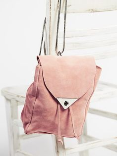 Costella Handbags Jess Suede Backpack at Free People Clothing Boutique