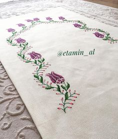 Discover thousands of images about Etamin üzeri işleme, seccade, motif, mavi, beyaz Crochet Stitches Free, Crochet Shell Stitch, Crochet Shawl, Free Crochet, Crewel Embroidery, Embroidery Patterns, Stitch Patterns, Crochet Patterns, Beaded Cross Stitch