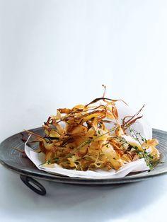 parmesan and lemon thyme parsnip strips