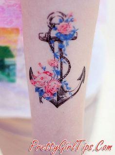 @prettygirltips Cool Anchor Tattoo