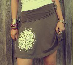 Mandala Yoga Skirt  Fold over skirt Chakra by theforgivingtree, $30.00