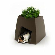 Originelles Tierhaus kombiniert mit Übertopf  - #Haustiere