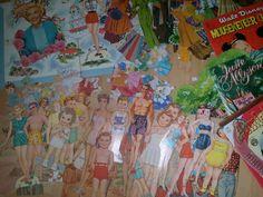 Lots of mid-century paper dolls