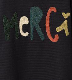 Imagem 5 de Sweatshirt merci da Zara