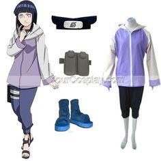 Naruto Shippuden Hinata Hyuga Women's Cosplay Costume and Access, Naruto Cosplay Costumes, Cosplay Costumes