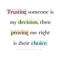 Trust, betrayal, giving others second chances will only break YOU.