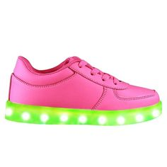 Pink Low Top LED Light Up Shoes