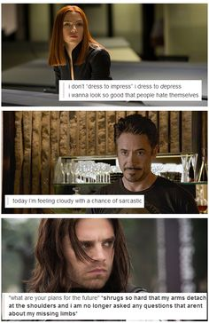 Marvel + text posts. The last one