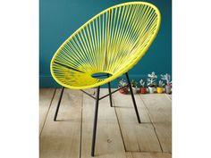 alinea 90 fauteuil de jardin r tro en fils scoubidou bleu turquoise kadom fauteuils de. Black Bedroom Furniture Sets. Home Design Ideas