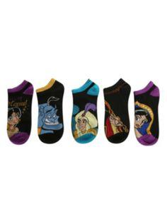 Disney Aladdin No-Show Socks 5 Pair