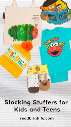 This list of stocking stuffer ideas features everything from book-related apparel and accessories that support literacy programs around the world to innovative, adorable mini books that your loved ones are sure to love. Dragons Love Tacos, Perfect Sisters, Yellow Mugs, Stocking Stuffers For Kids, Literacy Programs, Cute Penguins, Very Hungry Caterpillar, Rifle Paper Co, Cute Tshirts