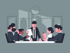 Buy Business Meeting in Office by on GraphicRiver. Business meeting in office. Meeting of shareholders of company. Business Illustration, Flat Illustration, Digital Illustration, People Illustration, Free Vector Images, Vector Free, Business Meeting, Office Meeting, Portfolio Design