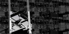 A CROW IN THE SCAFFOLD | alan innes | 2010. Graphic art. Photos of a construction scaffolding in Taringa, Brisbane AU. Photo early 2000s.