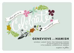 A wedding invitation for a funkier couple :)  www.DuBoisFW.com