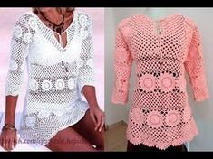 This Pin was discovered by Cha Vintage Sewing Patterns, Knit Patterns, Clothing Patterns, Beach Crochet, Crochet Bikini Top, Crochet Jumper, Knit Or Crochet, Knitting Videos, Crochet Videos