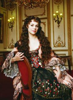 Gina Beck as Christine Daae in the musical The Phantom of the Opera