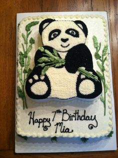 Panda Bear Birthday Cake done by Bunnycakes, November, 2014.