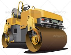 Small Road Roller #GraphicRiver Detailed vectorial image of light-brown double roller, isolated on white background. File contains gradients. No strokes and blends. In ZIP -archive: .ai (CS3, CMYK ), .eps (8 version, CMYK ), .jpeg (5200×4000 pixels, RGB ), .png (5200×4000 pixels, RGB ). Created: 10February12 GraphicsFilesIncluded: TransparentPNG #JPGImage #VectorEPS #AIIllustrator Layered: No MinimumAdobeCSVersion: CS Tags: asphalt #asphalt-placing #asphalt-spreading #black #bowl #compaction…