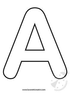 LETTERE DELL'ALFABETO DA STAMPARE Con queste letterine avete a disposizione tutte le sagome dell'alfabeto. Potete stamparle e utilizzarle nel modo che vole Alphabet Letters To Print, Alphabet Letter Templates, Alphabet Writing, Alphabet Book, Alphabet Worksheets, Alphabet And Numbers, Wood Letters, Preschool Worksheets, Letter M Crafts