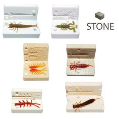 Fishing Stone Mold Collection DIY Silicone Soft Plastic Bug Creature Lure Bait #Boog
