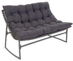 6034) poly rattan lounge schwarz gartenset sofa garnitur, Garten und Bauen
