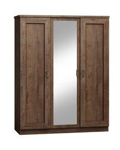 Trojdverová šatníková skriňa so zrkadlom T-15 zo sektoru TADEAS. Vo vnútri je skriňa riešená vešiakovou tyčou i policami. Farebné prevedenie je na výber: dub lefkas alebo storočný dub. #byvanie #domov #nabytok #skrine #klasickeskrine #modernynabytok #designfurniture #furniture #nabytokabyvanie #nabytokshop #nabytokainterier #byvaniesnov #byvajsnami #domovvashozivota #dizajn #interier #inspiracia #living #design #interiordesign #inšpirácia Armoire, Furniture, Home Decor, Clothes Stand, Decoration Home, Closet, Room Decor, Reach In Closet, Home Furnishings