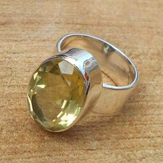 Friendship Rings – Citrine Ring, Citrine Yellow Gemstone Ring – a unique product by Midas-Jewelry on DaWanda Citrine Ring, Citrine Gemstone, Gemstone Rings, Gypsy Rings, Boho Rings, Royal Rings, Friendship Rings, Stylish Rings, Wide Band Rings