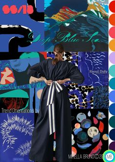 Over the weekend Mood Board constructions of my Deep Blue Sea SS/18. Trend I have been incubating for a few months. © Mirella Bruno Print Trend Colour Design 2016.