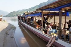 Slow boat from Thailand to Laos along the Mekong River