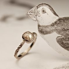 opaque diamond 'cushion' ring
