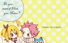 Lucy wants a kiss from Natsu by ~NitoriLemon on deviantART. :3