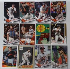 2017 Topps Update Giants Master Team Set of 12 Baseball Cards W/ SP Variations #sfgiants #topps #SanFranciscoGiants