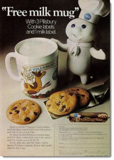 vintage food ad free milk mug from the pillsbury doughboy family circle may - Pillsbury Dough Boy Halloween Cookies