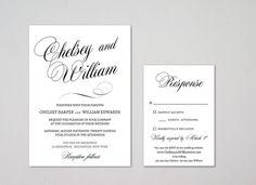 Invite Templates For Word Printable Wedding Invitation Suite  Calligraphy  Wedding Invite .
