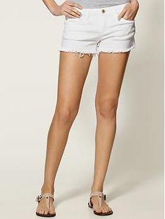 white denim cut-offs from piperlime