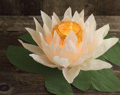 DIY paper flower luminaries