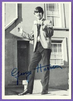 George Harrison (cute signed photo) (Bing Images!)
